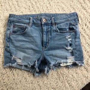 American Eagle highrise super stretch jean shorts